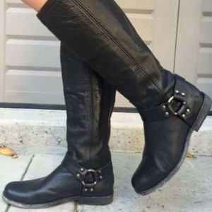 Frye Phillip Tall Zipped Harness Boots - Size 7.5
